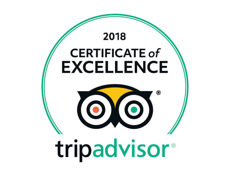Trip Advisor Certificate Excellence 2018