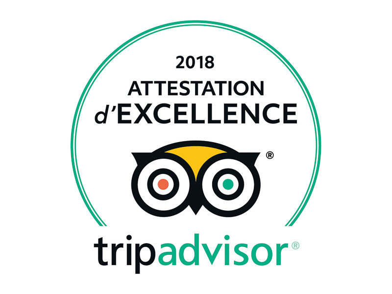 Trip Advisor Attestation Excellence 2018