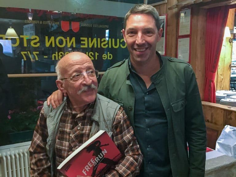 Noel Tamini et Pierre Morath à l'Auberge de Savièse