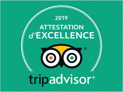 Trip Advisor Attestation d'excellence 2019